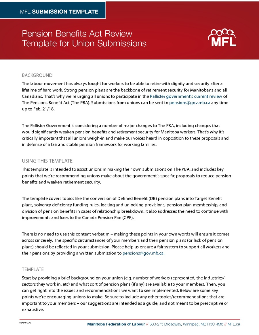 Reports Manitoba Federation Of Labour