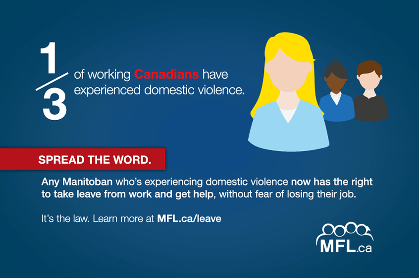 1/3 of working Canadians have experienced domestic violence